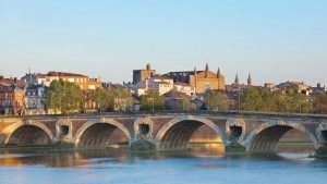 The Pont Neuf in Toulouse in a sammer evening